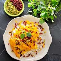 Persisk kyckling med saffran och ris Zereshk, recept