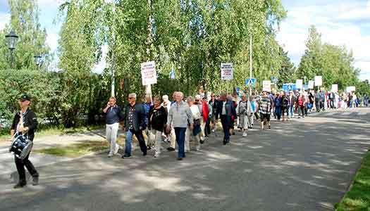 Piteås pensionärer demonstrerade för rättvis skatt