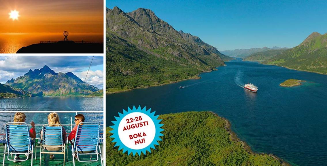 SLUTSÅLD: Hurtigruten – från Kirkenes till Bergen