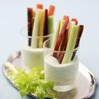 recept grönsaker med dipp, crudité