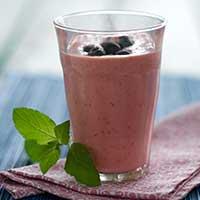 Blåbärsblå smoothie