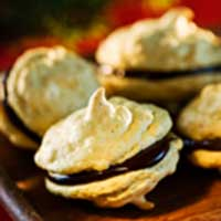 recept, macaroner med saffran och choklad, adventskaka, julkaka