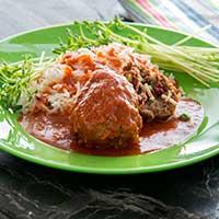 Recept köfte, persiska köttbullar med tomatsås