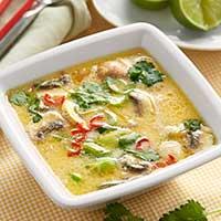 Thailändsk kycklingsoppa