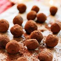 recept, chokladtryffel med rom
