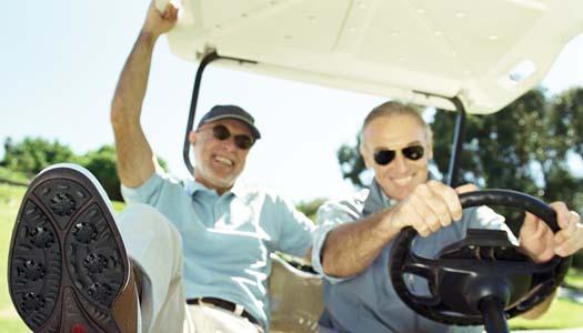 Är du en sådan som bara super och golfar?