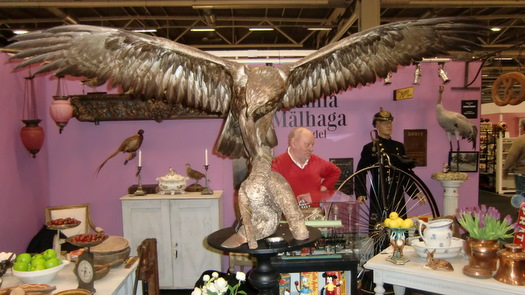 Fågelskådning på Antikmässan