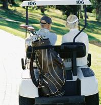 Sjukvården ska inte belastas av golfare som vill åka golfbil