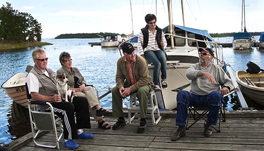 Båtfolket som trivs bäst på bryggan