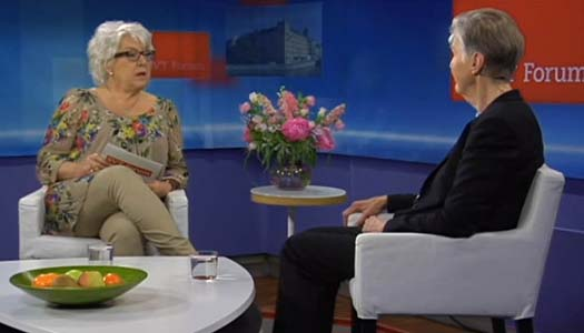 Barbro Westerholm intervjuas i SVT
