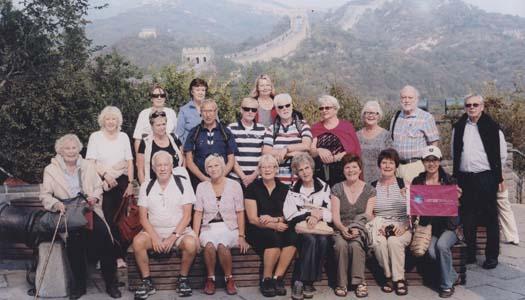 Glada resenärer besökte Kina