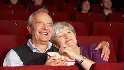 Textat på bio