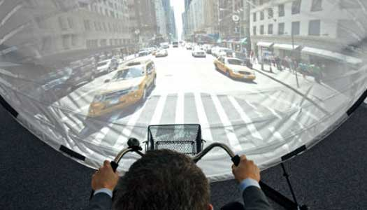 Virtuella cykelturer ska stimulera demenssjuka
