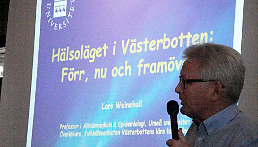 Professor informerade om hälsoläget i Västerbotten