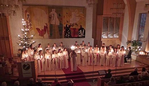 Stort intresse för Luciaprogrammet i Nybrokyrkan