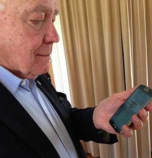 SPFs ordförande testar appen