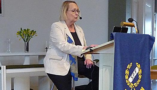 SPF:s pensionsexpert Margareta Gärdestad besökte SPF Guldstaden