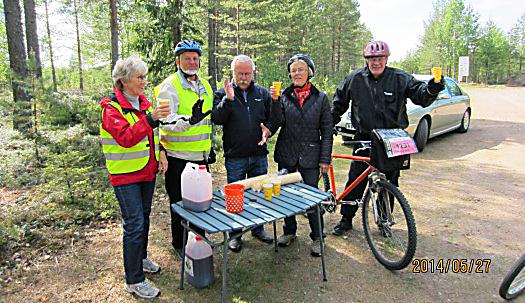 Cykelåkande Morapensionärer på vift
