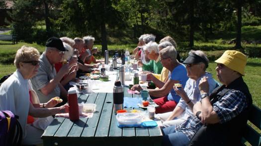 Roten picknickar på Norra