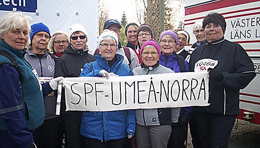 SPF Umeå norra deltog i blodomloppet 2014