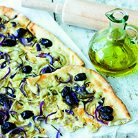 Olivbröd med rosmarin och lök