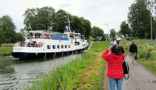 Härlig båttur på Göta Kanal