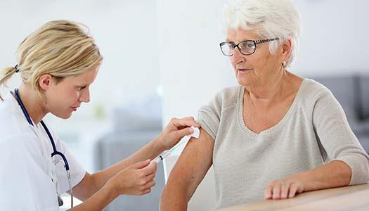 Ge äldre skydd mot lunginflammation
