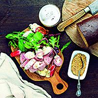 recept på smörgås med rostbiff, inlagd blomkåp och senap