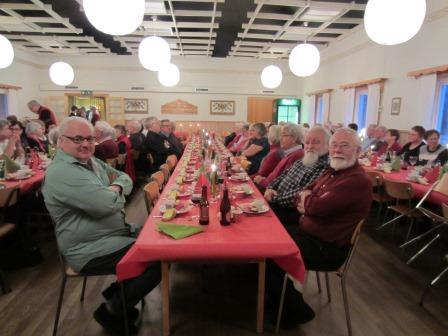 Moras Lucia-kandidater gästade på julfest
