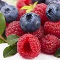 blueberries & raspberries