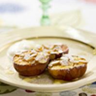 Grillade persikor med mandel