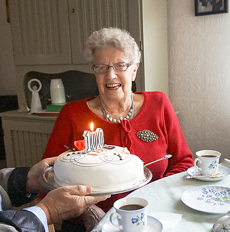 En hundraåring i vår förening