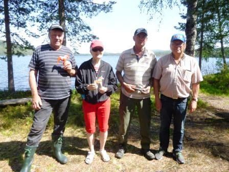 SPF Mora ute på lyckat fiskafänge vid sjön Ljugarn