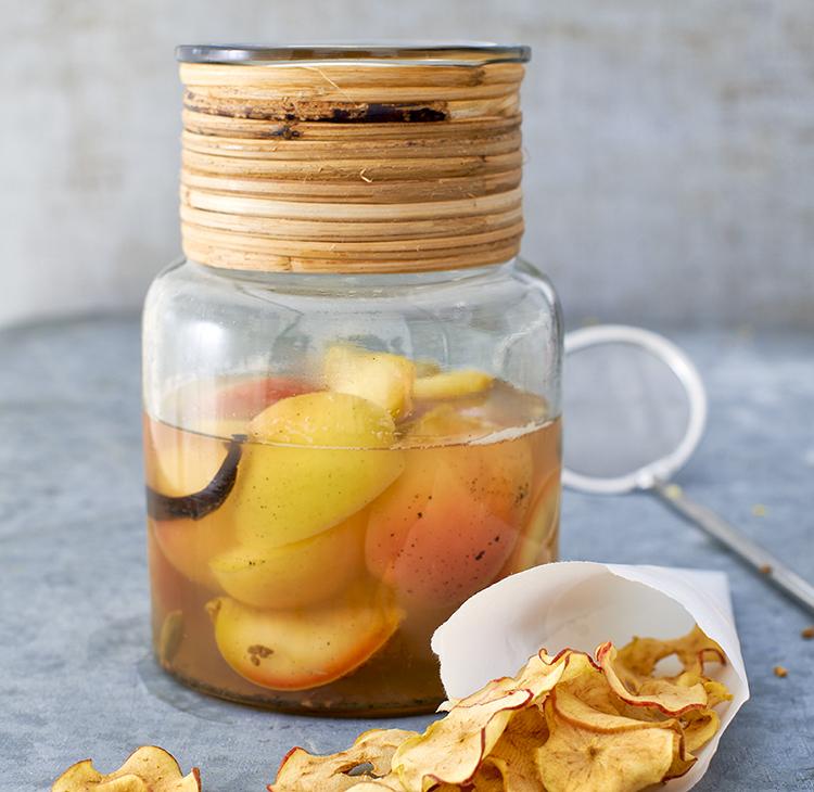 Inkokta äppelklyftor