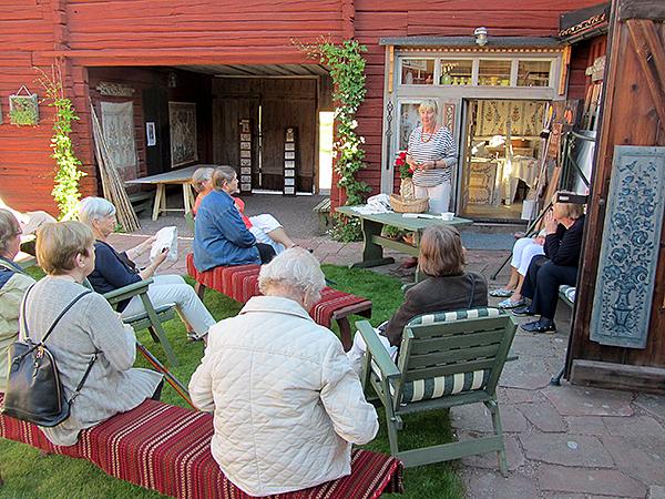 SPF Seniorerna Falun hos Slotts Barbro och Alice Lund