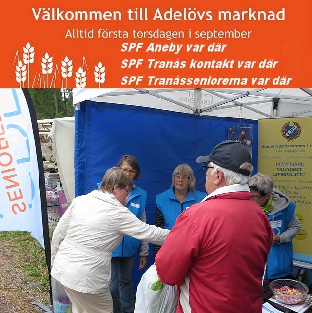 SPF värvade medlemmar på Adelövs marknad