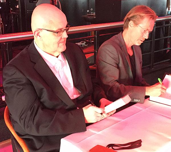 På kryssning med kriminalförfattarduon Roslund & Hellström!