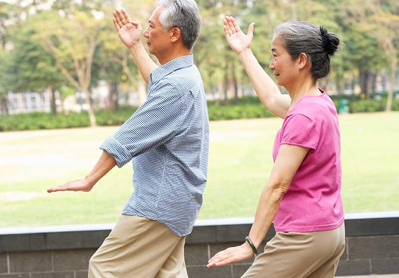 Kinesiska träningsformer kan minska depression