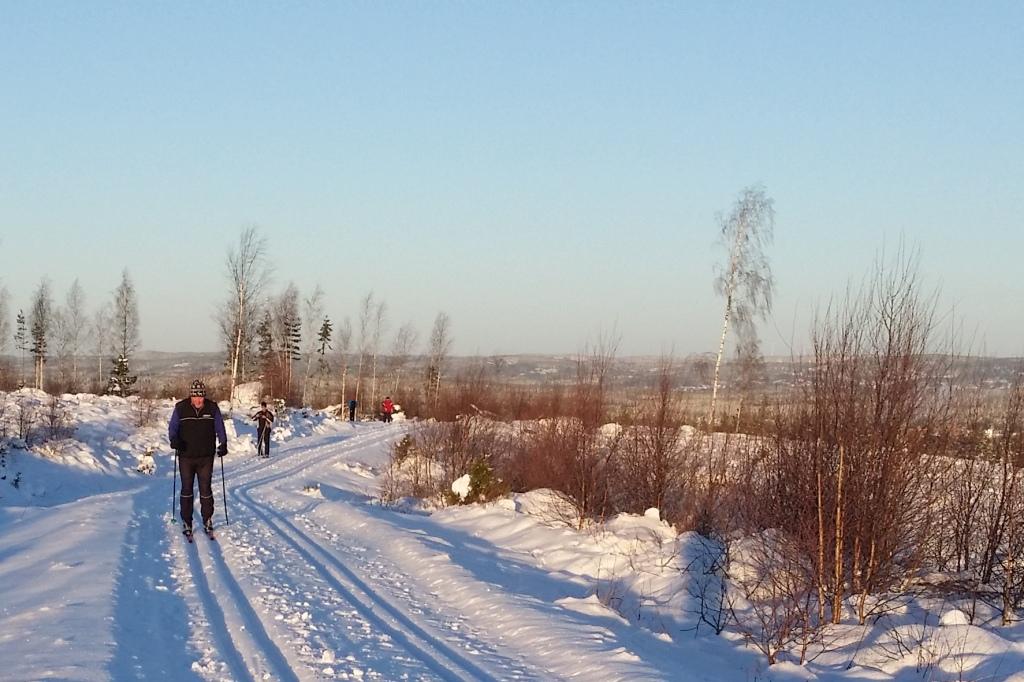 Säsongens första skidåkning