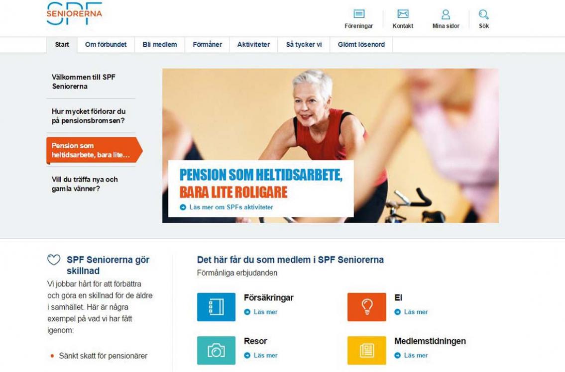 Ny hemsida för SPF Seniorerna