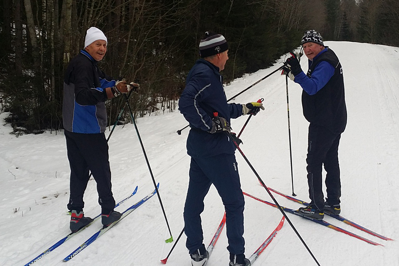 Skidåkning i Bergebo den 1 februari