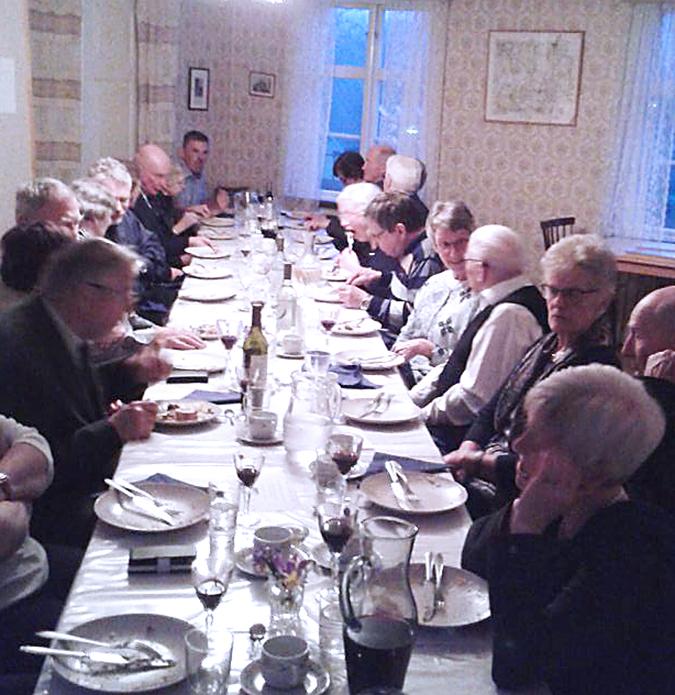 Avslutning för SPF Östra Blekinges matlagningskurs för herrar