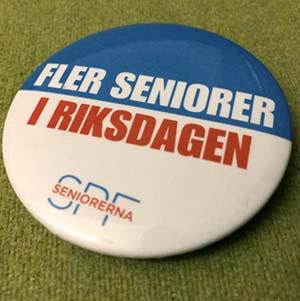 kampanj, val, spf seniorerna, riksdagen