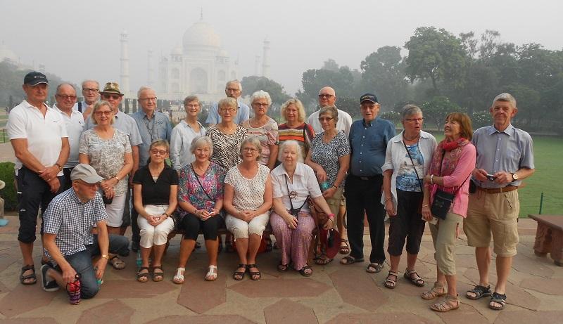 Äventyrslystna seniorer besökte Indiens Gyllene Triangel