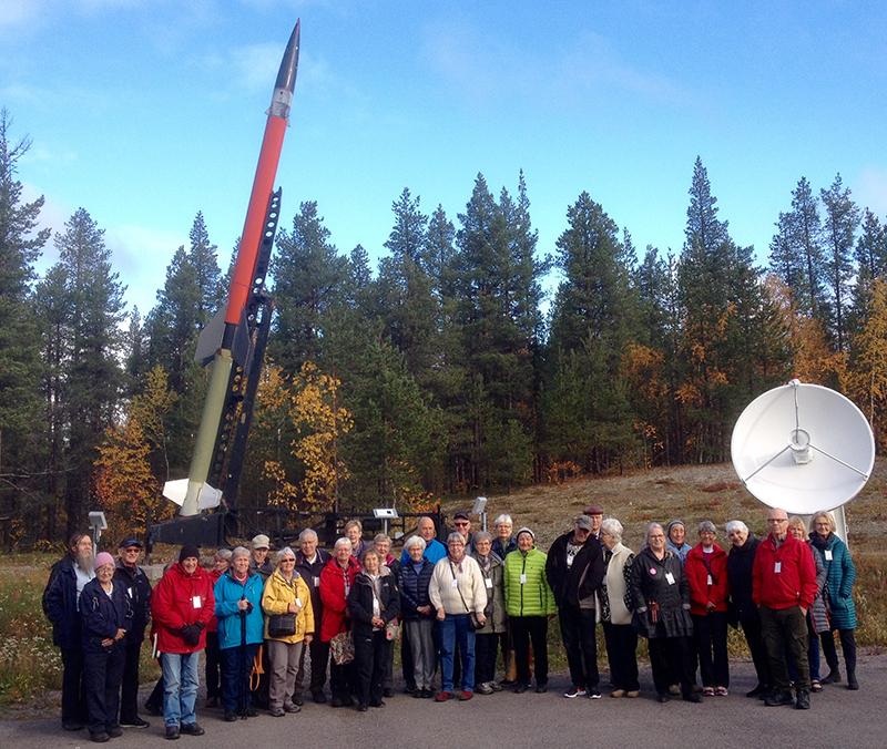 """SPF Kiruna på besök i """"rymden"""""""