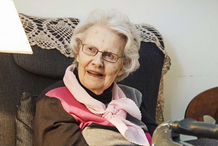 Kerstin fick en nystart på äldreboendet