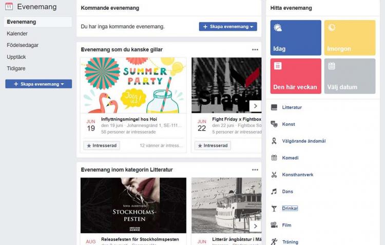 Få utlopp för dina intressen på Facebook