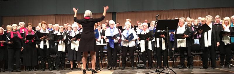 Över 100 sångare på Daladistriktets körstämma
