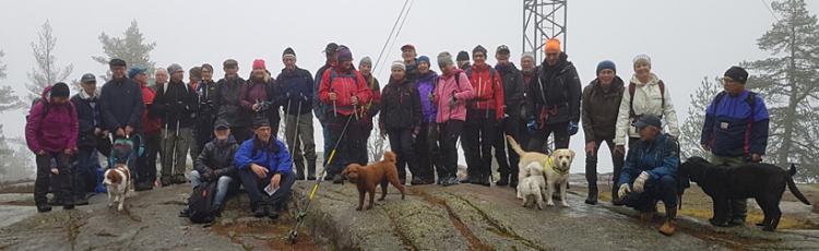 34 deltagare vandrade upp på Bispbergs klack