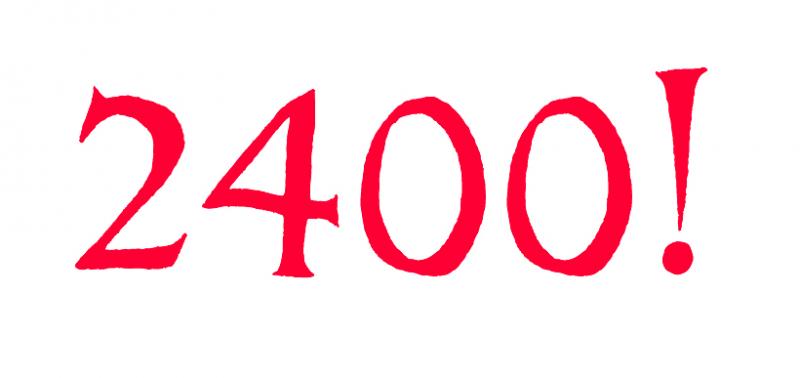 Nu är vi 2400 – och några till!